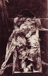 German Officer in coffin