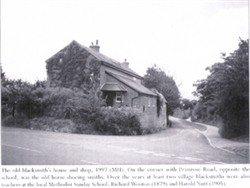 Photograph of Blacksmith's house and shop