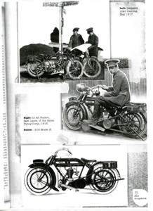 Copy of a page showing motorcycles