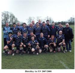 Bletchley RFC  Ist XV team photo 2007-08 season