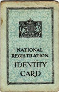 National Registration Identity Card for Ellen B A Green