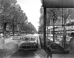 Image 7. A 'planted boulevard' (The Plan for Milton Keynes, March 1970)
