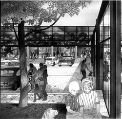 Image 9. Drawing by Helmut Jacoby of a parking area