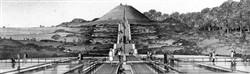 Image 23. 'Avebury Mound' and the 'animated lake'