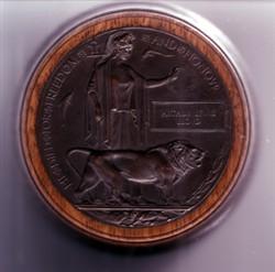 World War One memorial plaque.