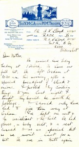 Letter from Lewis Lloyd to his mother.