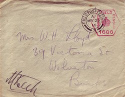 Envelope addressed to Mrs W.H. Lloyd.
