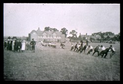 Slide of a tug of war contest.