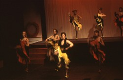 Slide of can-can dancers