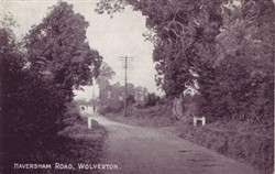 Postcard of Haversham Road Wolverton