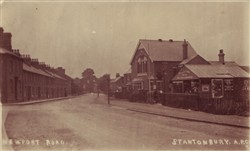 Postcard of Newport Road, Stantonbury