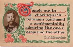 George V Maxims Postcard