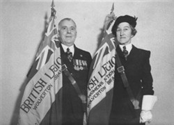 Photograph of two members of British Legion - Wolverton Branch
