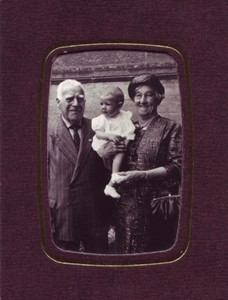 Photograph of Elderly couple with baby