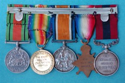 Four World War One Medals and One Second World War Medal