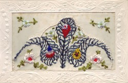 Embroidered Card  of the flags of the allies