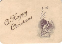 Embroidered Christmas Card 'Christmas Greetings'