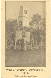 Front cover from a leaflet on Wolverton's cenotaph