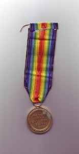 World War One Victory medal awarded to 4th Class Artificer Harold Godwin.