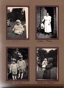 Black and White Photograph Album of Albert Mander's Family