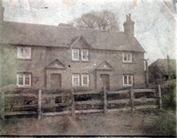 Black and White Photograph of Grinley Cottages, Stony Stratford
