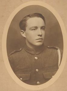 Sepia photograph of Albert Mander in Army Uniform