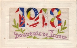 Embroidered postcard '1918'