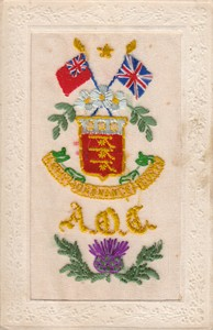 "Embroidered postcard; ""Royal Ordnance Corps"""