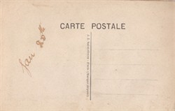 Embroidered postcard;