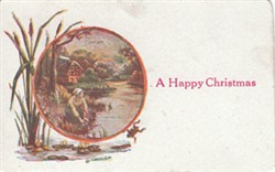 "Printed postcard ""A Happy Christmas"""