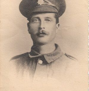 Photographic postcard of a soldier