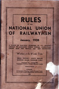 Rules of the National Union of Railwaymen