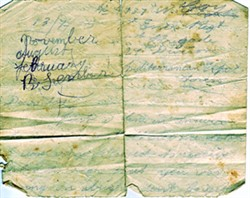 Note made by George Mumford