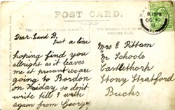 Postcard from George Mumford