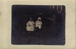 "Photographic postcard ""Two Children"""