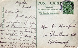 Photographic postcard: Hythe