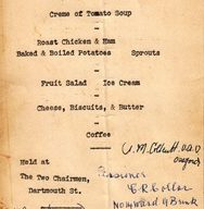 HMHS Britannic Survivers Dinner Menu