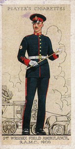 Cigarette Card 1st Wessex Field Ambulance RAMC 1908