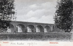 Postcard of the viaduct, Wolverton
