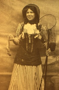Slide of Nellie Smith dressed as a Fisherwoman