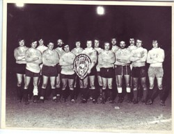 Olney RFC team with 1976 Lewis Shield