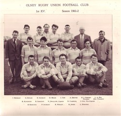 Olney RFC 1st XV team 1961-62