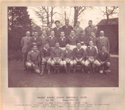 Olney RFC 1st XV team 1947-48