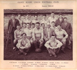 Olney RFC 1st XV team 1960-61