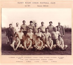 Olney RFC 1st XV team 1963-64