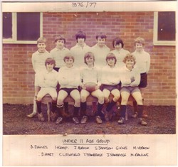 Olney RFC Under 11 Age Group 1976-77