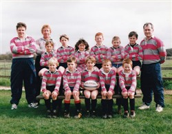 Olney RFC 25th Under 9's team 1997