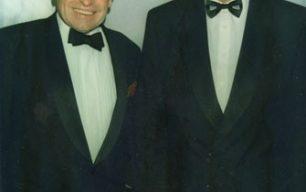 Cliff Morgan & John Silk at Milton Keynes RUFC dinner 1997