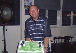 John Silk celebrates his 65th birthday at MKRUFC club house