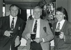 John Silk & Jeff Butterfield in the Greenleys clubhouse